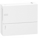 Mini Pragma табло за открит монтаж 1 x 12, с непрозрачна бяла врата