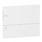 Mini Pragma вдадено табло за вграден монтаж 1 x 12, с Непрозрачна бяла врата