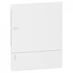 Mini Pragma вдадено табло за вграден монтаж 2 x 12, с Непрозрачна бяла врата