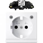 Капак със светлинен излаз и LED осветителен модул за контактен излаз Шуко, Активно бяло