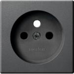 Капак за механизъм на контактен излаз със заземителен щифт, Антрацит