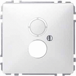 Носеща декоративна рамка с капачка за механизми в съответствие с DIN 41524, Полярно бял