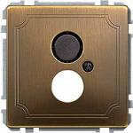 Носеща декоративна рамка с капачка за механизми в съответствие с DIN 41524, Месинг