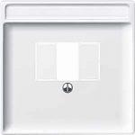 Капак за телефонна розетка с квадратен отвор, Полярно бял