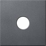 Капак обозначен с TV/SATза розетка за антена, 1 изход, Антрацит