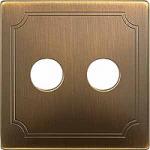 Капак обозначен с TV/SAT за розетка за антена 2 изхода, Месинг