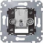 Механизъм за междинна розетка за антена, 2 изхода R/TV+SAT