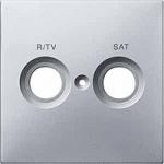 Капак обозначен с R/TV+SAT за розетка за антена, Алуминий