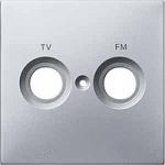 Капак обозначен с FM+TV за розетка на антена, Алуминий
