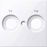 Капак обозначен с FM+TV за розетка на антена, Активно бяло