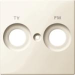 Капак обозначен с FM+TV за розетка на антена, Бяло