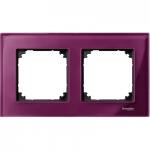 Рамка M-Elegance Glass, двумодулна, Рубин