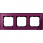 Рамка M-Elegance Glass, тримодулна, Рубин