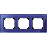 Рамка M-Elegance Glass, тримодулна, Сапфир