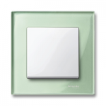 Рамка M-Elegance Glass, едномодулна, Изумруд
