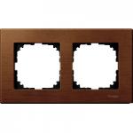 Рамка M-Elegance Wood, двумодулна, Череша