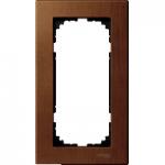 Рамка M-Elegance Wood, двумодулна, без централен разделител, Череша