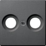 Капак за антена с два отвора, Антрацит