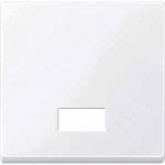 Капак за механизъм с правоъгълно индикаторно прозорче за символи, Активно бяло