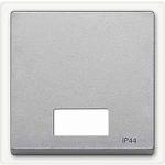 Капак за механизъм с правоъгълно индикаторно прозорче за символи, Алуминий