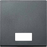 Капак за механизъм с правоъгълно индикаторно прозорче за символи, Антрацит