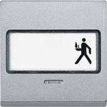 Капак за механизъм с поле за етикет и индикаторна лампа, Алуминий
