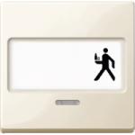 Капак за механизъм с поле за етикет и индикаторна лампа, Бяло