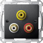 Розетка за аудио/видео връзка, Антрацит