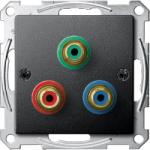 Розетка за връзка за видео-компонент, Антрацит