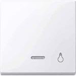 """Капак за механизъм с индикаторна лампа и символ """"Осветление"""", Активно бяло"""