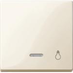 """Капак за механизъм с индикаторна лампа и символ """"Осветление"""", Бяло"""