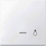 """Капак за механизъм с индикаторна лампа и символ """"Осветление"""", Полярно бял"""