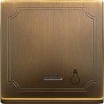 """Капак за механизъм с индикаторна лампа и символ """"Осветление"""", Месинг"""