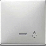 """Капак за механизъм с индикаторна лампа и символ """"Осветление"""", Неръждаема стомана"""
