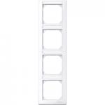 Рамка M-Smart, четиримодулна, с възможност за маркировка, вертикален монтаж, Активно бяло