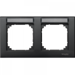 Рамка M-Plan, двумодулна, с възможност за маркировка, хоризонтален монтаж, Антрацит