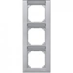 Рамка M-Plan, тримодулна, с възможност за маркировка, за вертикален монтаж, Алуминий