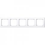 Рамка M-Smart, петмодулна, Активно бяло