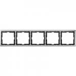 Рамка Artec, петмодулна, Неръждаема стомана