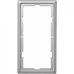 Рамка Artec, двумодулна без разделител, Неръждаема стомана