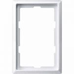 Рамка Artec, едно и половина модулна, Полярно бял