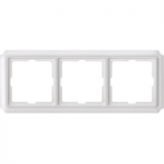 Рамка Antique, тримодулна, Полярно бял