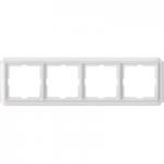 Рамка Antique, четиримодулна, Полярно бял