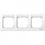 Рамка M-Plan, тримодулна, с възможност за маркировка, хоризонтален монтаж, Ативно бяло