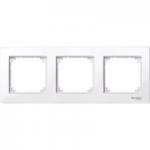 Рамка M-Plan, тримодулна, Активно бяло