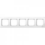 Рамка M-Plan, петмодулна, Полярно бял