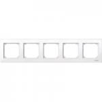 Рамка M-Plan, петмодулна, Активно бяло