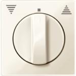 Капак за механизъм на ротативен ключ/бутон за управление на ролетни щори, Бяло