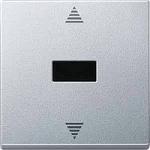 Бутон за за управление на щори с  инфрачервен приемник и сензорна връзка, Алуминий