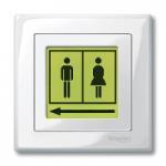 Комплект листове за етикети за LED механизъм за светлинен сигнал, прозрачен стикер